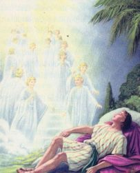Jacob dreams of a ladder to heaven Genesis 28:12