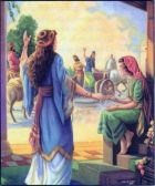 Naaman goes to Israel for healing from leprosy II KIngs 5:5